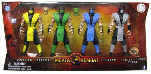 51Zm6e0M3DL Reviews Mortal Kombat Retro 6 Inch Action Figure 4Pack Scorpion, Reptile, SubZero Smoke