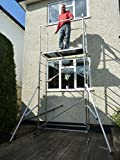 5m DIY Aluminium Scaffold Tower / Towers with 2 outriggers