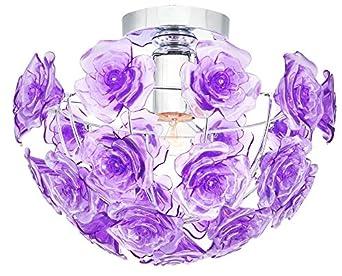 Deckenlicht Deckenlampe Lampe Wohnzimmer Rosen Blüten Inklusive 5,5 Watt  Philips LED