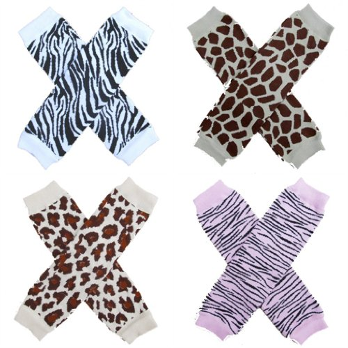 So Sydney Leg Warmers (4 Pk) - Animal Prints - One Size Babies To Age 8+ front-842251