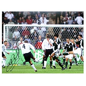 Steven Gerrard Signed Photo England Germany Goal from Icons Sports Memorabilia