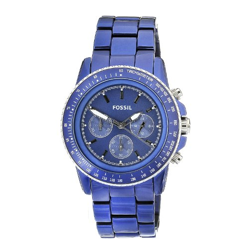 Fossil Men's Dark Blue Aluminium Chronograph Stella Watch - Ch2710