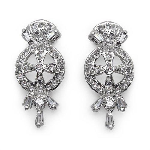 3.30 Grams American Diamond Brass Earrings