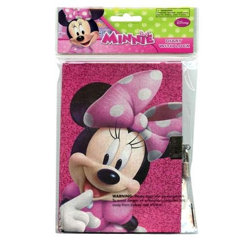 Disney Minnie MouseSparkle Personalized Diary, Notebook W/lock