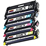 1 Set of 4 Ink First High Yield Toner Cartridges 3110CN BK, C, M, Y Compatible Remanufactured for DELL 3110CN Black, Cyan, Magenta, Yellowby Inkfirst