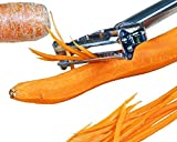 Julienne Vegetable Peeler, Cutter and Slicer is Perfect for Making Potato, Carrot, Zucchini or Butternut Squash Noodles. Amazing Peeler Includes a Free Cleaning Brush and has a Dual Blade Feature. Enhance Your Kitchen Experience Now!