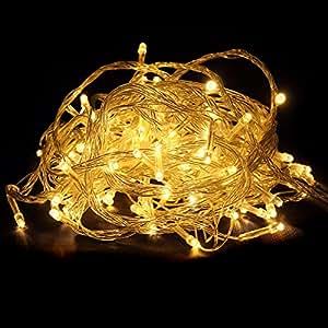 Bingsale 10M 100 Stück LED-Lampen led lichter lichterketten außen innen für Weihnachtsbaum Hochzeiten Geburtstage oder jede Feier Weihnachtsbeleuchtung Weihnachtsdeko (Warmweiß)