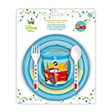 Winnie The Pooh - Set Microondas Basic 5 Piezas Disney Baby Cars rojo