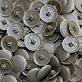 Snap-On Bifix Cover Caps To Use with Phillips Ph2 & Pozidrive Pz2 Pozi Screws - Pack Of 50 Biffix Covers : Weathered Copped Brown
