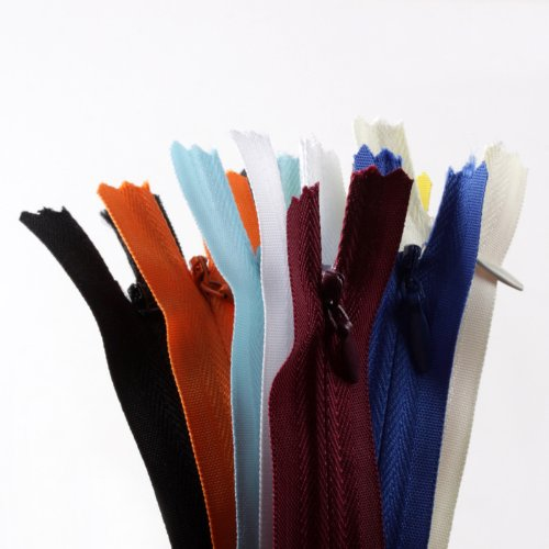 "Discover Bargain YKK 9"" Invisible Zippers- 20 Zippers- 20 Colors(MADE IN USA)"