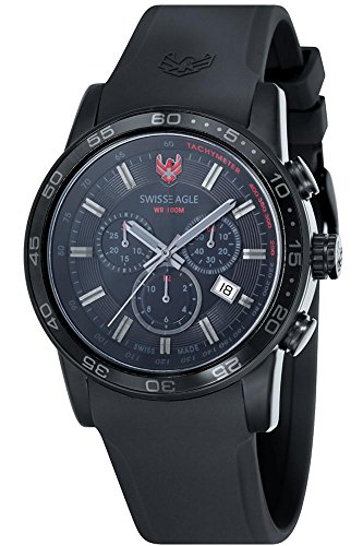 SWISS EAGLE SE-9057-07 - Reloj para hombres, correa de silicona