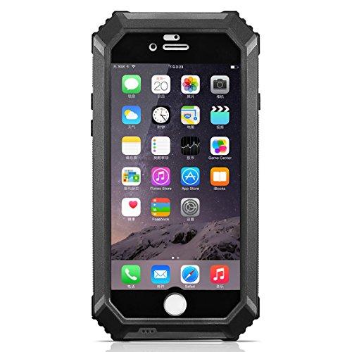 HAMSWAN iPhone6/6s ケース IP68テスト承認 防水 防塵 耐衝撃 指紋認識 ワンステップ成形技術 防水保護ケース iPhone6 4.7'' に対応  ノーマナーモードのスイッチ  4色の選択 ブッラク