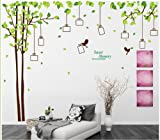 Sumlake Brown X Large Green Photo Tree Remember Sweet Memories Wall Art Stickers Decal for Home Room Decor Decoration
