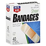 Rite Aid Bandages, Sheer, All One Size, 40 bandages