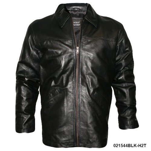 Mens Black Classic Casual Real Leather Jacket H2T Size Small