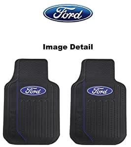 ford blue oval logo elite series car truck suv front seat rubber floor mats pair. Black Bedroom Furniture Sets. Home Design Ideas