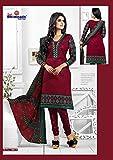 Sai Bhimnath Women's Cotton Un-Stitched Dress Material