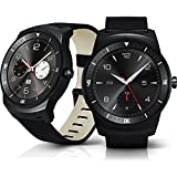 """Lg G Watch R W110 4gb 1.3"""" Oled Smart Watch for Android Smartphone (Black) - International Version No Warranty"""