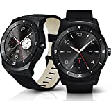 Lg G Watch R W110 4gb 1.3 Oled Smart Watch for Android Smartphone (Black) - International Version No Warranty