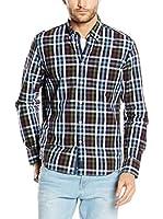 Marc O'Polo Camisa Hombre (Azul / Marrón)