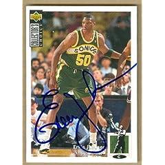 Ervin Johnson Autographed Hand Signed Basketball Card (Seattle Sonics) 1994 Upper...