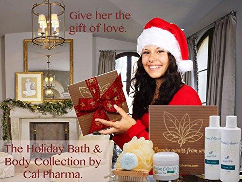 Holiday 6-Piece Sleigh Ride Collection Bath and Body Gift Sets with Body Lotion, Shower Gel, Sugar Scrub, Loofah Bath Sponge, Bath Bomb, and Scrub Brush