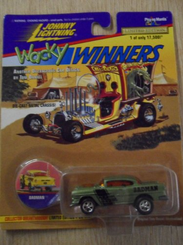 Johnny Lightning Wacky Winners Badman Green Die-Cast Car Series 1 W/ Collectible Coin