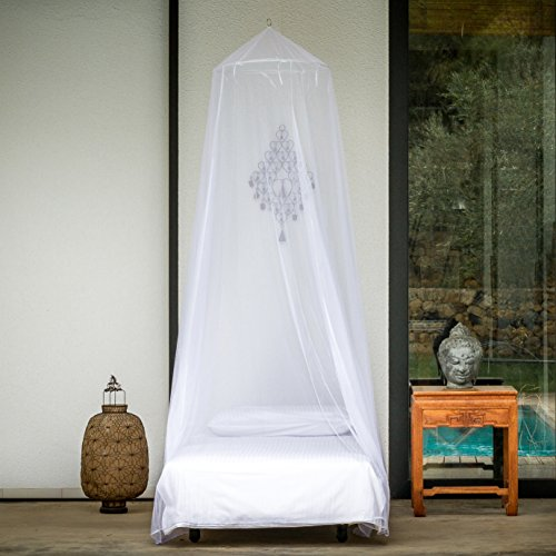 Premium mosquito net for single bed by even naturals for Hanging canopy over bed