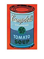 Artopweb Panel Decorativo Warhol Campbell's Soup Can, 1965 - 60x90 cm Bordo Nero