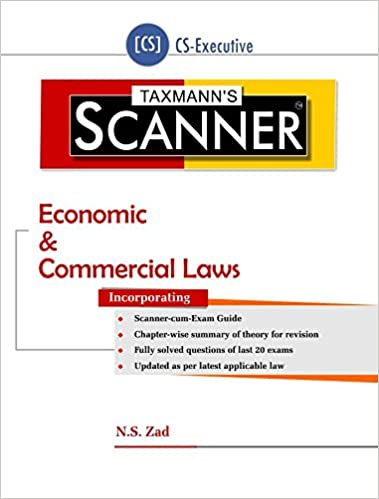Scanner-Economic & Commercial Laws (CS-Executive) (July 2016 Edition) Paperback – 2016