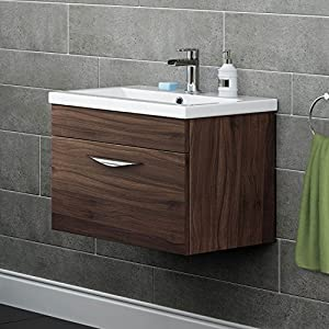 Unique Designer Gloss White Basin Sink Bathroom Vanity Unit Furniture Storage