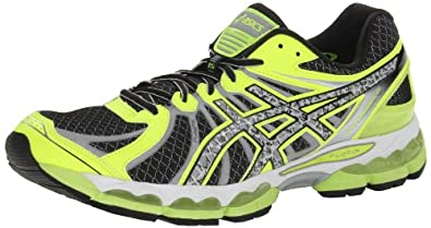 ASICS Men's Gel-Nimbus 15 Lite-Show Running Shoe,Black/Reflective/Flash Yellow,9 M US