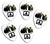 Chickenfoot 5 X Love Heart Guitar Picks Both Sides Printed