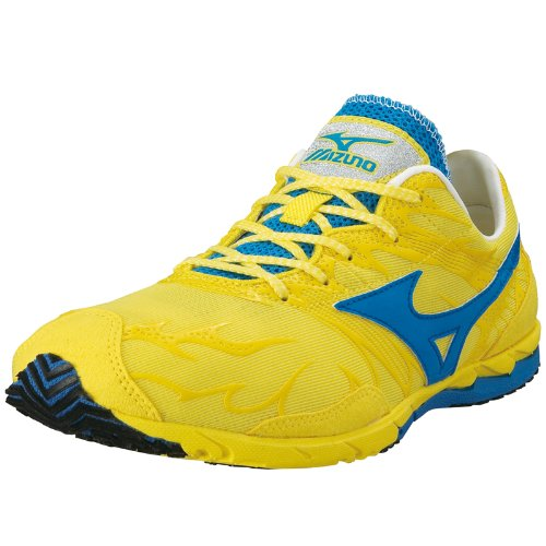 MIZUNO Wave Universe 4 Unisex Running Shoes, Yellow/Blue, UK12