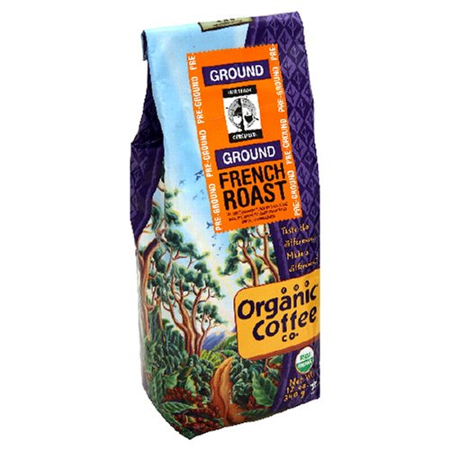 The Organic Coffee Co Organic Ground French Roast 12 Ounce Bags Pack of 3