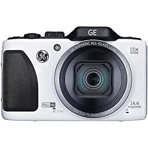 General Imaging Full-HD Digital Camera with 14.4MP, CMOS, 15X Optical Zoom, 28mm Wide Angle Lens, 3-Inch LCD and HDMI (White) G100-WH