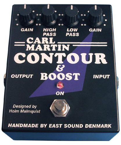 Carl Martin Contour Boost Effects Pedal Low High Pass Filter w Boost Built In Power Supply