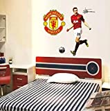 English PremierShip Manchester United Van Persy Football Wall Stickers Home Deco
