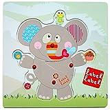 Vital Innovations LL de fr1286-Label ranuras Puzzle elefante, Gris