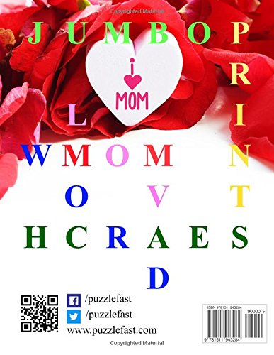 Mother's Day Jumbo Print Word Search (Jumbo Print Puzzle Books)