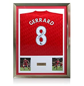 Framed Steven Gerrard Liverpool Signed Shirt - 201112 from A1 Sporting Memorabilia