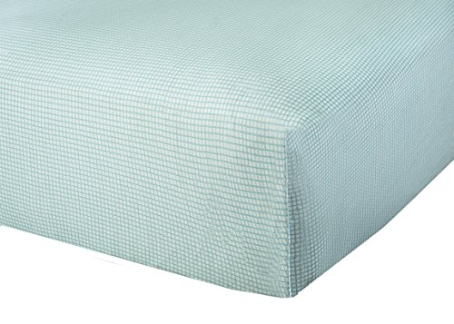 Abstract Baby Fitted Gingham Crib Sheet (24 X 38, Blue)