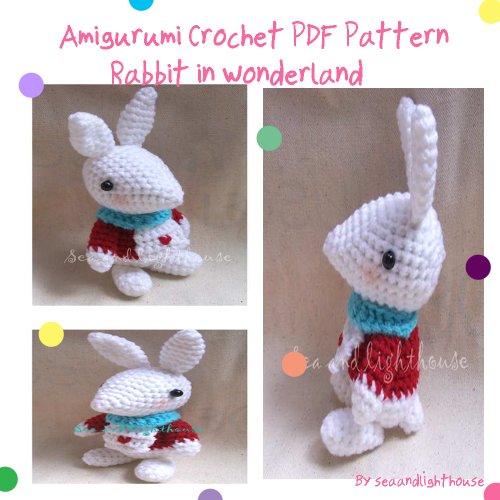 Rabbit From Alice In Wonderland Amigurumi Crochet Pattern
