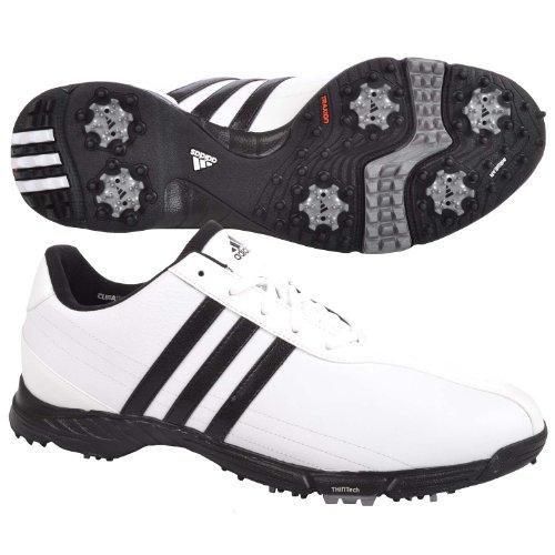 Adidas Golflite Grind 2.0 Mens Golf Shoes - White/Black - Medium Width - 10.5 US