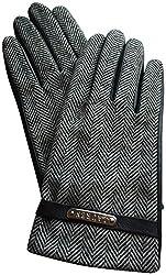 Lauren Ralph Lauren Leather Herringbone Gloves Medium