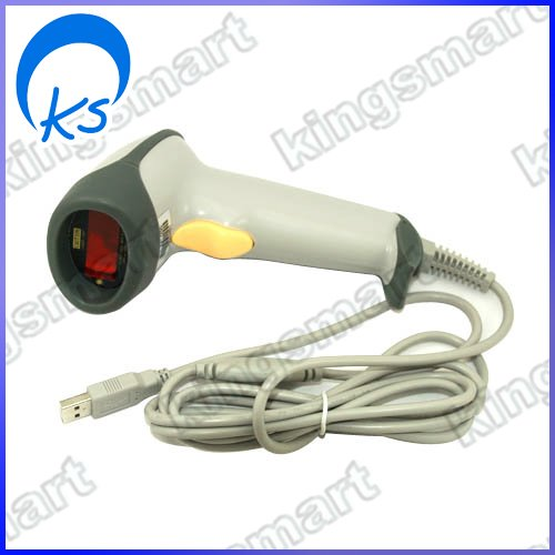 Wired Handheld USB Automatic Laser Barcode Scanner Reader With USB Cable