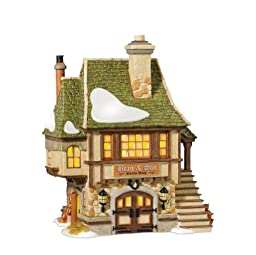 Department 56 Dickens\' Village 25th Anniversary Bean And Son Smithy Shop Lit House