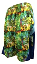 Mesh Lax Shorts Performance Emerald Green Deep Sea Blue Size Youth