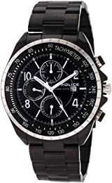 Police Men's Navy Watch Mf 12777JSBS/02MA with Black Dial