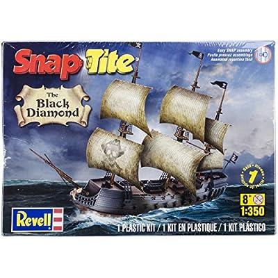 Revell The Black Diamond Pirate Ship Snap Tite Plastic Model Kit